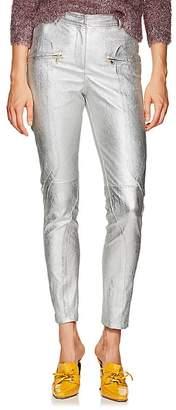 Sies Marjan Women's Brin Metallic Textured-Leather Biker Pants