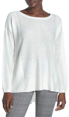 NYDJ Boatneck Split Back Sweater