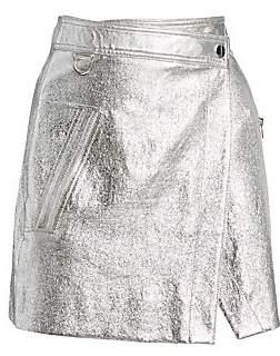 Derek Lam 10 Crosby Women's Metallic Leather Wrap Mini Skirt