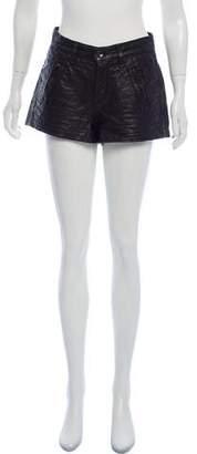Rag & Bone Mini Leather Shorts
