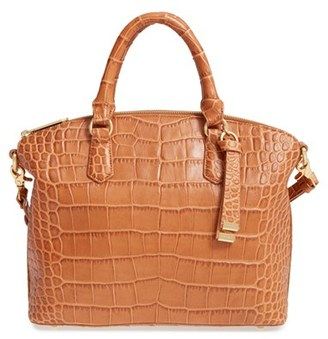 Brahmin 'Savannah - Medium Duxbury' Embossed Leather Satchel $285 thestylecure.com