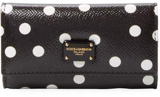 Dolce & Gabbana Polka Dot French Leather Wallet