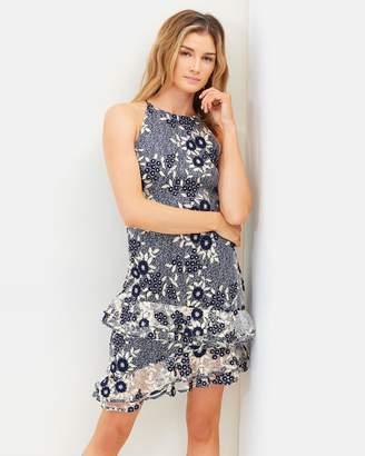 Cooper St Moonflower High Neck Lace Dress