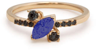 Black Diamond S/H Koh 14k Gold & Sapphire Yours Only Ring