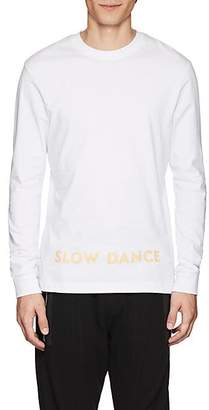 "Blood Brother MEN'S ""SLOW DANCE"" COTTON LONG-SLEEVE T-SHIRT - WHITE SIZE XL"