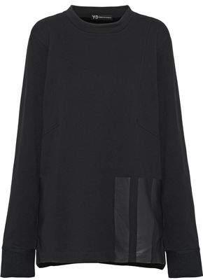 Y-3 + Adidas Appliquéd French Cotton-Terry Sweatshirt