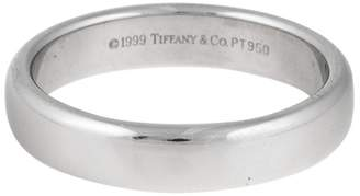 Tiffany & Co. Classic Platinum Mens Wedding Ring Size 9