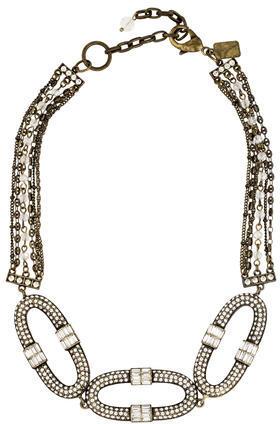 Badgley MischkaBadgley Mischka Crystal Link Necklace