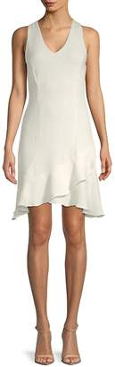 Julia Jordan Women's V-Neck Ruffle Dress