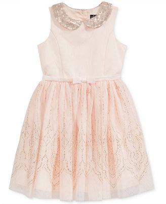 Pink & Violet Sequin-Detail Glitter-Tulle Dress, Toddler & Little Girls (2T-6X) $74 thestylecure.com