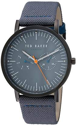 Ted Baker Men's 'BRIT' Quartz Stainless Steel and Leather Casual Watch