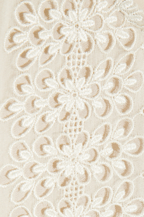 RED Valentino Embroidered silk-organza dress