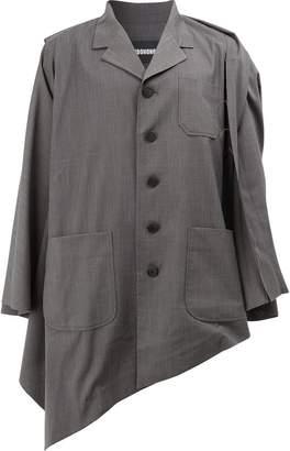 Moohong asymmetric hem jacket