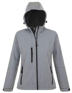 Replay SOLS Womens/Ladies Hooded Soft Shell Jacket (Breathable, Windproof And Water Resistant)