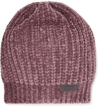 Brunello Cucinelli Bead-embellished Ribbed Cashmere-blend Beanie - Antique rose