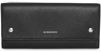 Burberry Leather Continental Wallet