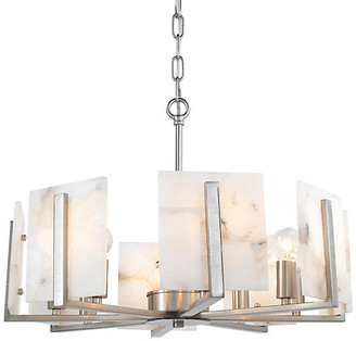 Jamie Young Halo Alabaster Chandelier - Natural/Silver