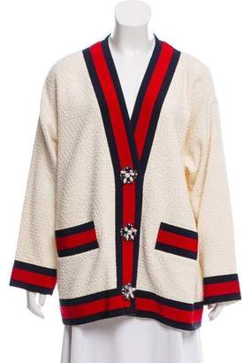 Gucci Tweed Button-Up Cardigan w/ Tags