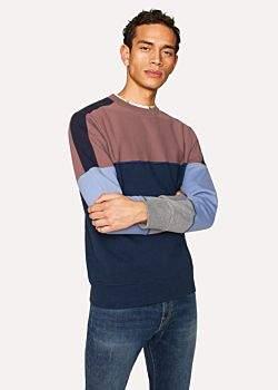 Paul Smith Men's Colour-Block Cotton Sweatshirt