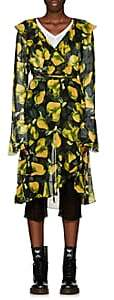 Marc Jacobs Women's Pear-Print Georgette Wrap Dress - Grn. Pat.