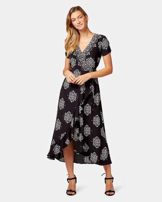 Jeanswest Maria Print Wrap Dress