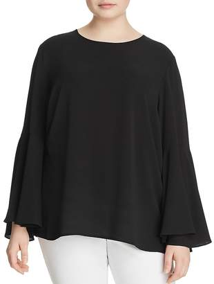 VINCE CAMUTO Plus Bell Sleeve Blouse