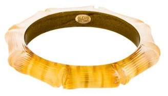 Alexis Bittar Carved Lucite Bangle