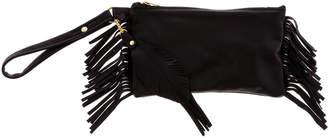 Fringe Leather Fringe Wristlet