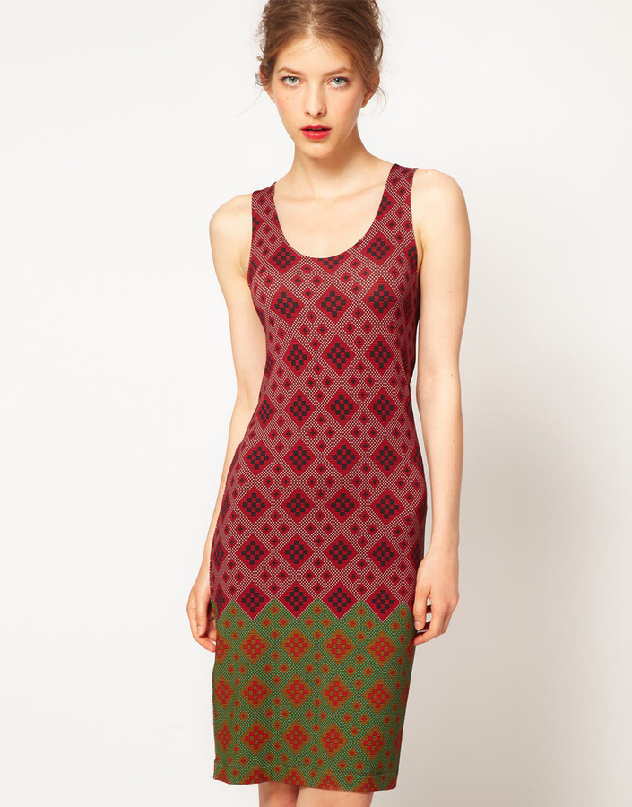Jonathan Saunders Printed Jersey Tank Dress