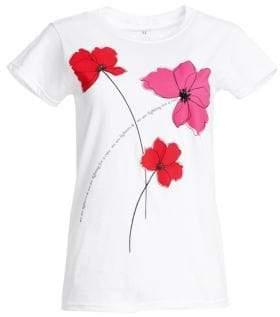 Carolina Herrera Key To The Cure Poppy T-Shirt