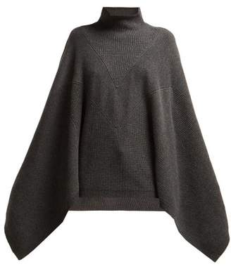 Givenchy High Neck Cashmere Sweater - Womens - Dark Grey