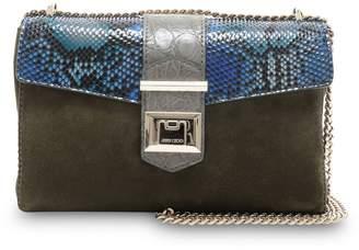 Jimmy Choo MARIANNE SHOULDER BAG/S Vine Mix Suede Degrade Painted Python and Crocodile Leather Shoulder Bag