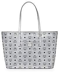 MCM Women's Medium Anya Metallic Visetos Shopper