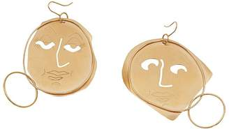 J.W.Anderson moon face earrings