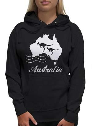 Young Motto Women's Australia Kangaroo Hoodie