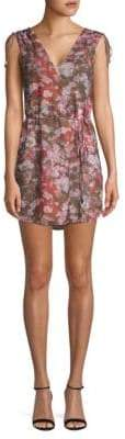 Haute Hippie Floral-Print Mini Dress