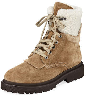 Moncler Patty Suede Lace-Up Boots