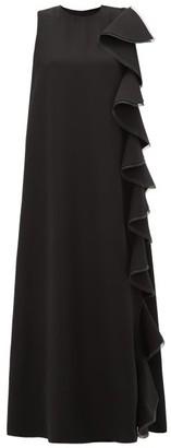 Valentino Ruffled Silk Cady Gown - Womens - Black