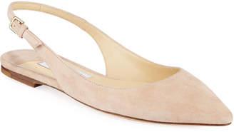 Jimmy Choo Erin Slingback Suede Ballet Flats