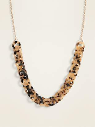 Old Navy Tortoiseshell-Ring Statement Necklace for Women
