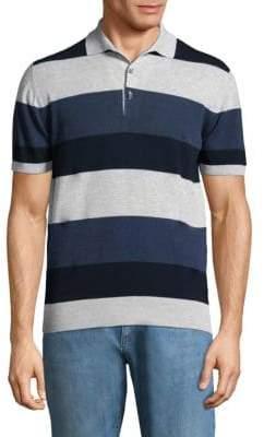 Luciano Barbera Striped Polo Shirt
