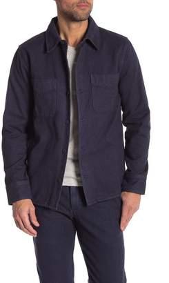 Save Khaki Herringbone Long Sleeve Regular Fit Shirt