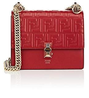 Fendi Women's Kan I Small Leather Shoulder Bag - Red