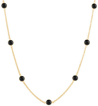 Black Diamond She Adorns & Gold Station Necklace