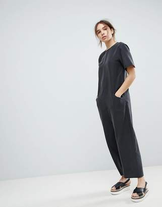 Asos Design DESIGN Minimal Jumpsuit with Dropped Crotch