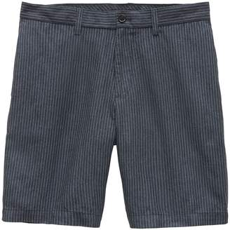 "Banana Republic Aiden Slim 9"" Pinstripe Cotton-Linen Short"