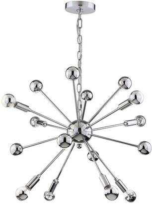 Jonathan Y Designs Glenn 8-Light 22.5In Metal Sputnik-Style Led Chandelier