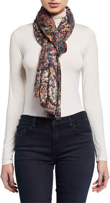 Lily & Lionel Paisley Modal-Cashmere Scarf