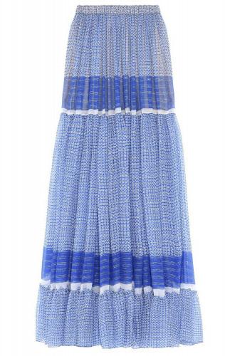 Stella McCartneyStella McCartney Elsa Maxi Skirt in Petrol Blue