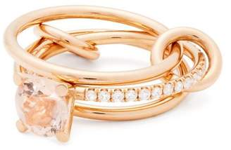 Spinelli Kilcollin - Sonny 18kt Rose Gold, Diamond And Morganite Ring - Womens - Rose Gold